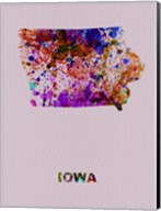Iowa Color Splatter Map Fine-Art Print