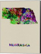 Nebraska Color Splatter Map Fine-Art Print