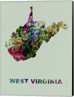 West Virginia Color Splatter Map Fine-Art Print