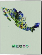 Mexico Color Splatter Map Fine-Art Print
