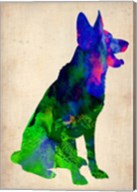 German Sheppard Watercolor Fine-Art Print