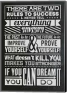 Success Set Black Fine-Art Print