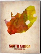 South Africa Watercolor Fine-Art Print