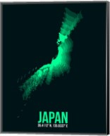 Japan Radiant Map 2 Fine-Art Print