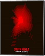 South Korea Radiant Map 1 Fine-Art Print