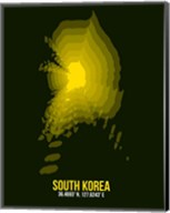 South Korea Radiant Map 3 Fine-Art Print