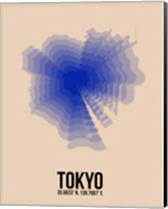 Tokyo Radiant Map 2 Fine-Art Print