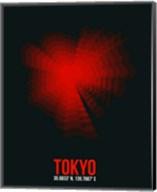 Tokyo Radiant Map 3 Fine-Art Print