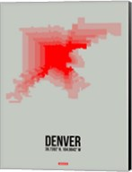 Denver Radiant Map 1 Fine-Art Print