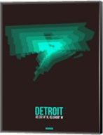 Detroit Radiant Map 4 Fine-Art Print