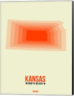 Kansas Radiant Map 1 Fine-Art Print