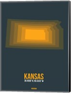 Kansas Radiant Map 4 Fine-Art Print