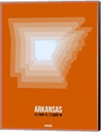 Arkansas Radiant Map 3 Fine-Art Print