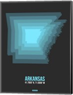 Arkansas Radiant Map 4 Fine-Art Print