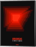 Arkansas Radiant Map 6 Fine-Art Print