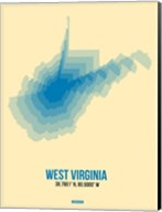 West Virginia Radiant Map 1 Fine-Art Print
