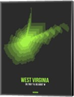West Virginia Radiant Map 4 Fine-Art Print