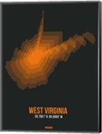 West Virginia Radiant Map 5 Fine-Art Print