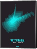 West Virginia Radiant Map 6 Fine-Art Print