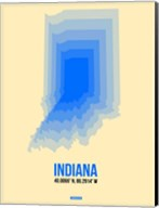 Indiana Radiant Map 1 Fine-Art Print