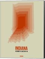 Indiana Radiant Map 3 Fine-Art Print