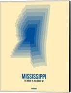 Mississippi Radiant Map 2 Fine-Art Print