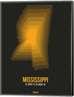 Mississippi Radiant Map 5 Fine-Art Print