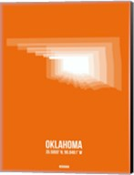 Oklahoma Radiant Map 3 Fine-Art Print