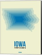 Iowa Radiant Map 1 Fine-Art Print