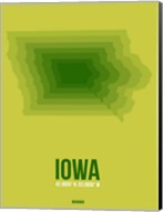 Iowa Radiant Map 2 Fine-Art Print