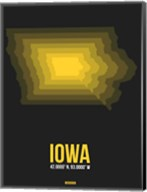 Iowa Radiant Map 4 Fine-Art Print
