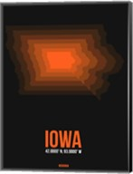 Iowa Radiant Map 6 Fine-Art Print