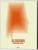 Alabama Radiant Map 1 Fine-Art Print