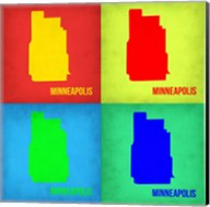 Minneapolis Pop Art Map 1 Fine-Art Print