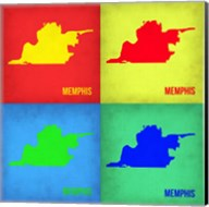Memphis Pop Art Map 1 Fine-Art Print
