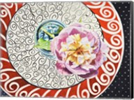 Flower on Plate I Fine-Art Print