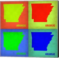 Arkansas Pop Art Map 1 Fine-Art Print