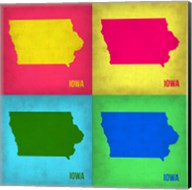Iowa Pop Art Map 1 Fine-Art Print