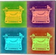 Vintage Typewriter Pop Art 1 Fine-Art Print