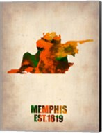 Memphis Watercolor Map Fine-Art Print