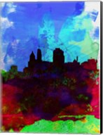 Cincinnati Watercolor Skyline Fine-Art Print