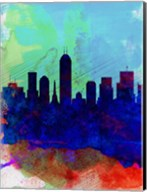 Indianapolis Watercolor Skyline Fine-Art Print