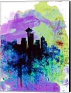 Seattle Watercolor Skyline 1 Fine-Art Print
