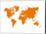 Yellow Dotted World Map Fine-Art Print