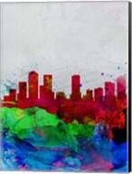 Denver Watercolor Skyline Fine-Art Print