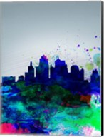 Kansas City Watercolor Skyline Fine-Art Print