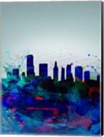 Miami Watercolor Skyline Fine-Art Print