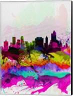 Tulsa Watercolor Skyline Fine-Art Print