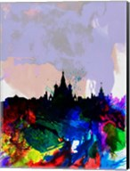 Moscow Watercolor Skyline Fine-Art Print