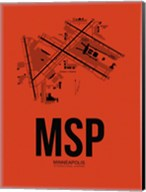 MSP Minneapolis Airport Orange Fine-Art Print